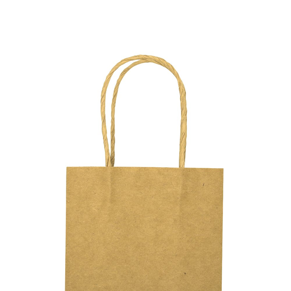 Bagmad Thicker Paper 50 Count 10x5x13, Large Kraft Paper Shopping Bags with Handles,Gift Natural Party Retail Craft Brown Bags,50PCS by Bagmad (Image #9)