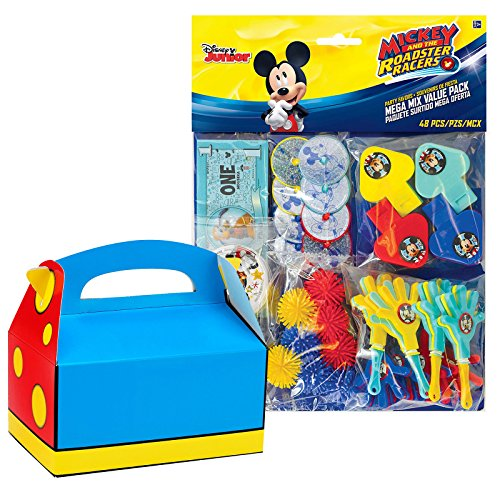 BirthdayExpress Mickey On The Go Party Supplies Favor Box (8) -