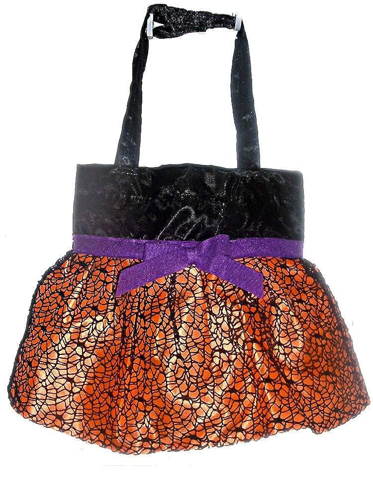 Burton /& Burton Halloween Satin Bags with Ruffled Skirt and Black Web Overlay Burton and Burton