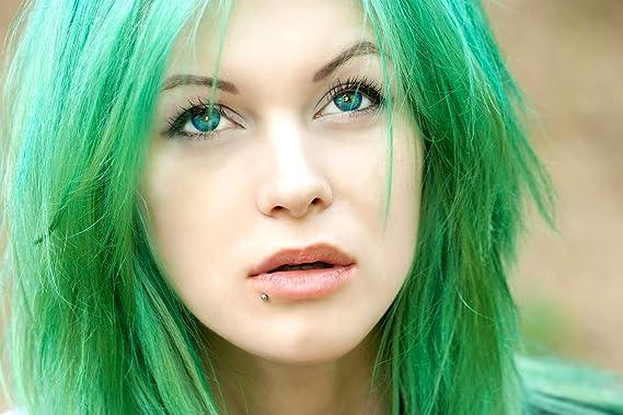 Etolab - Color de pelo semipermanente, verde oscuro, 3x125 ml