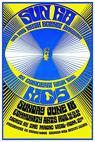 Jazz Concert Poster - Sun Ra & His Myth Science Arkestra Concert Poster, Jazz