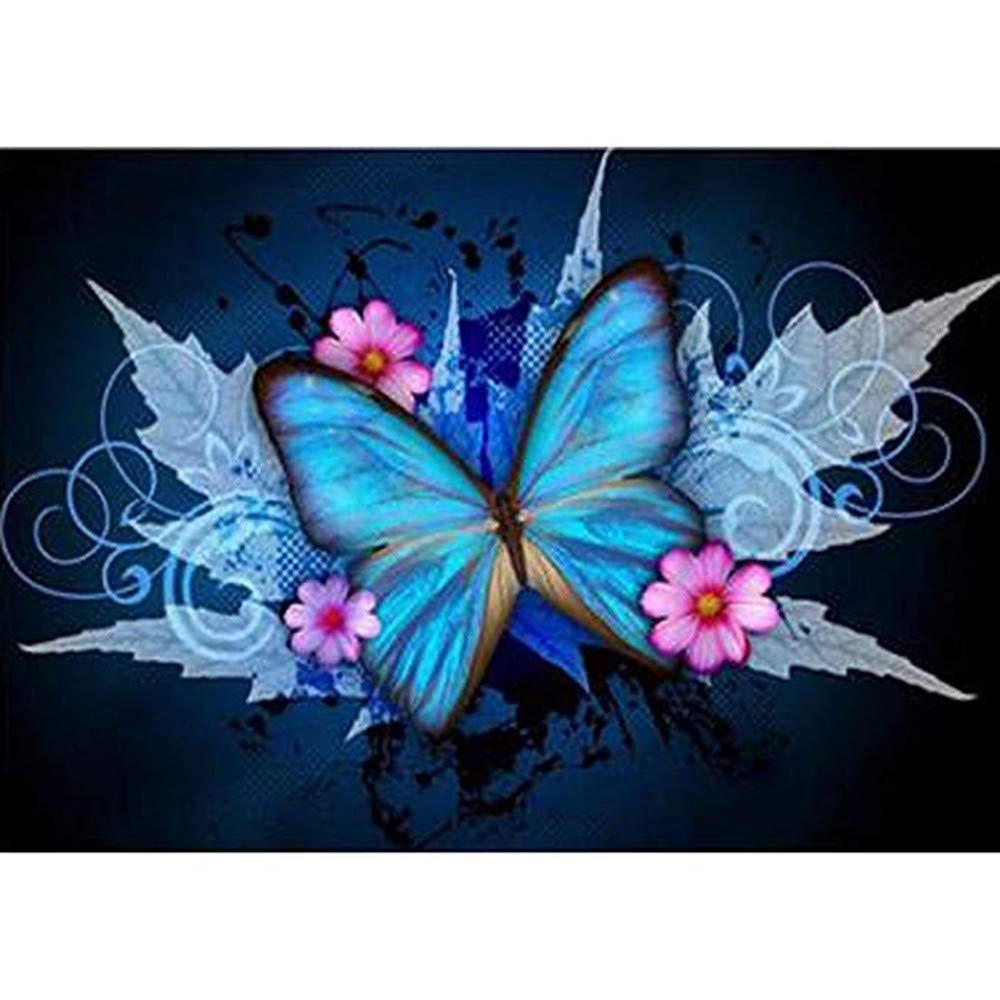 KYRRELY 5D DIY Diamond Painting, Butterfly Diamond Embroidery Rhinestone Painting Cross Stitch Kit Wall Art Decor 5D Diamond DIY Art Craft Canvas Wall Decor 30x40cm (Butterfly, 30x40cm) by KYRRELY
