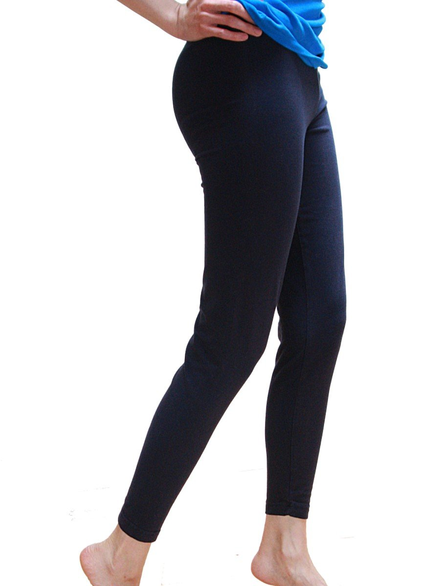 Cotton Spandex Jersey Legging 8328 (X-Large, Navy)