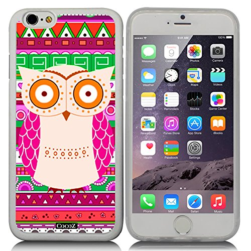 CocoZ? New Apple iPhone 6 s 4.7-inch Case Lovely owl National wind pattern TPU Material Case (Transparent TPU & OWL - Character Otto Cartoon