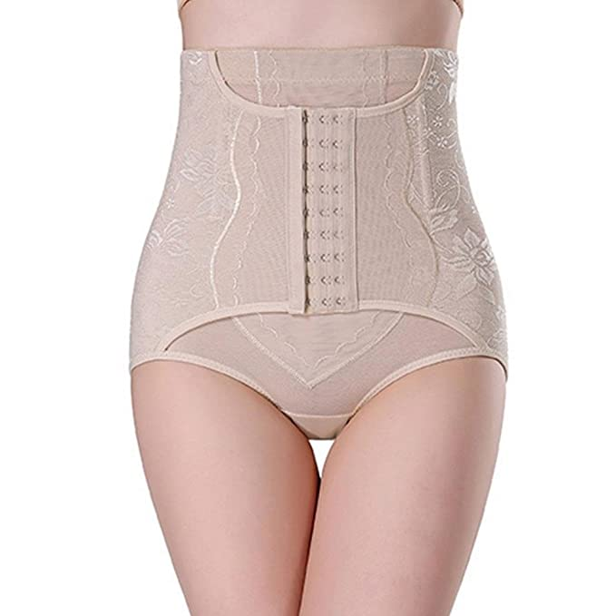 2e23b91749 Say Hello Women Hip Body Control Corset High Waist Slimming Tummy Abdomen  Shaper Underwear(Skin)  Amazon.co.uk  Clothing