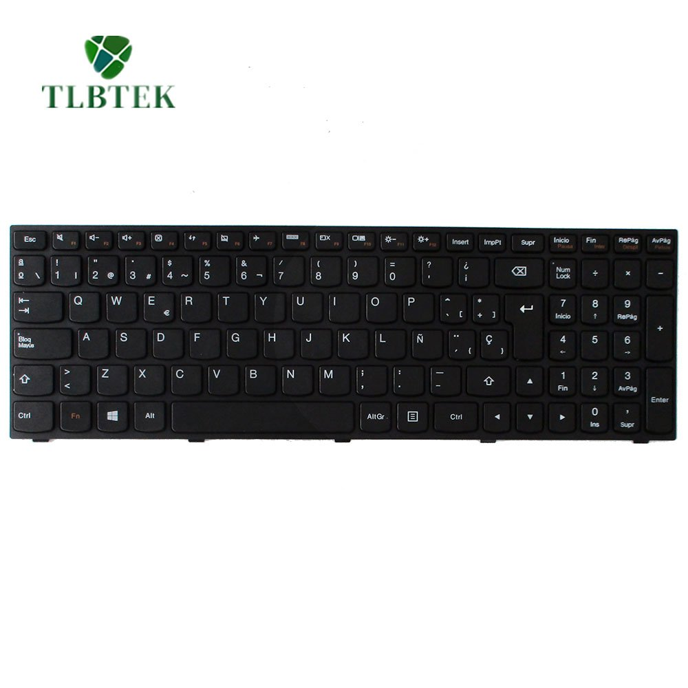 TLBTEK Tablet Teclado Español Qwerty para Lenovo g50-70 B50-30 B50-45 B50-70 B50-80 B51-30 B51-35 B51-80 B70-80 B71-80 E50-70 E50-80 G50-30 G50-45 G50-70 ...