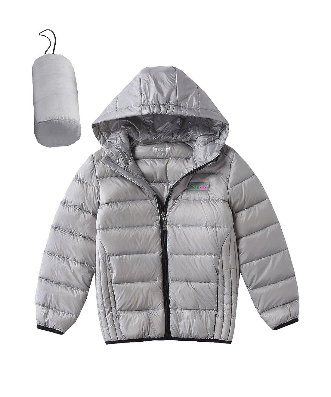 Hiheart Boys Girls Ultralight Hooded Puffer Jacket Winter Down Coat INDN01p