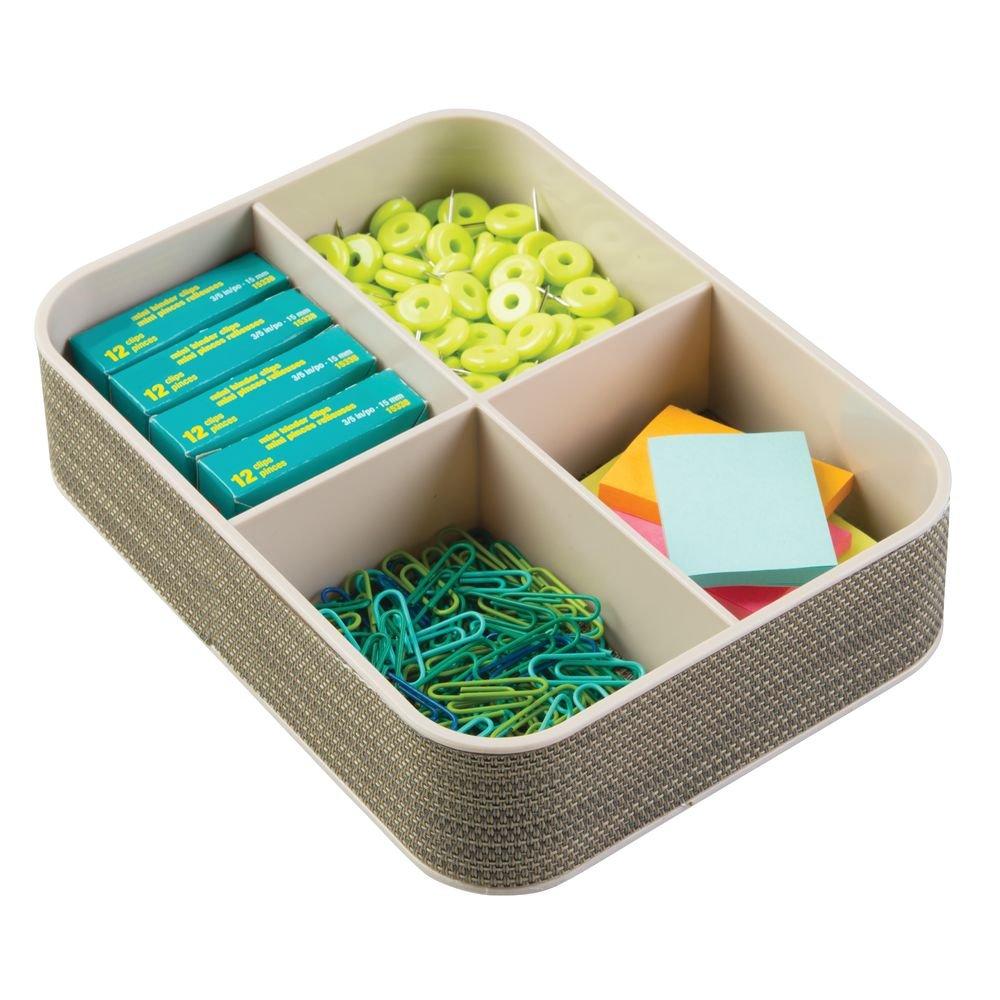 Colore InterDesign Office Supplies Twillo Organizer per scrivania Champagne Perlato