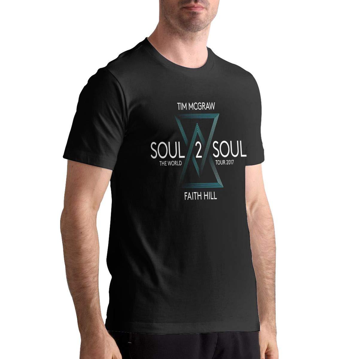 DanaMWatson Tim McGraw T Shirt Mens Cotton T Shirt Fashion Round Neck Short Sleeve Tops Tees