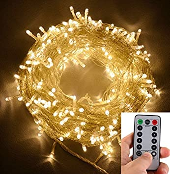 Amazon warm white echosari 100 leds outdoor led fairy warm white echosari 100 leds outdoor led fairy string lights battery operated with mozeypictures Image collections