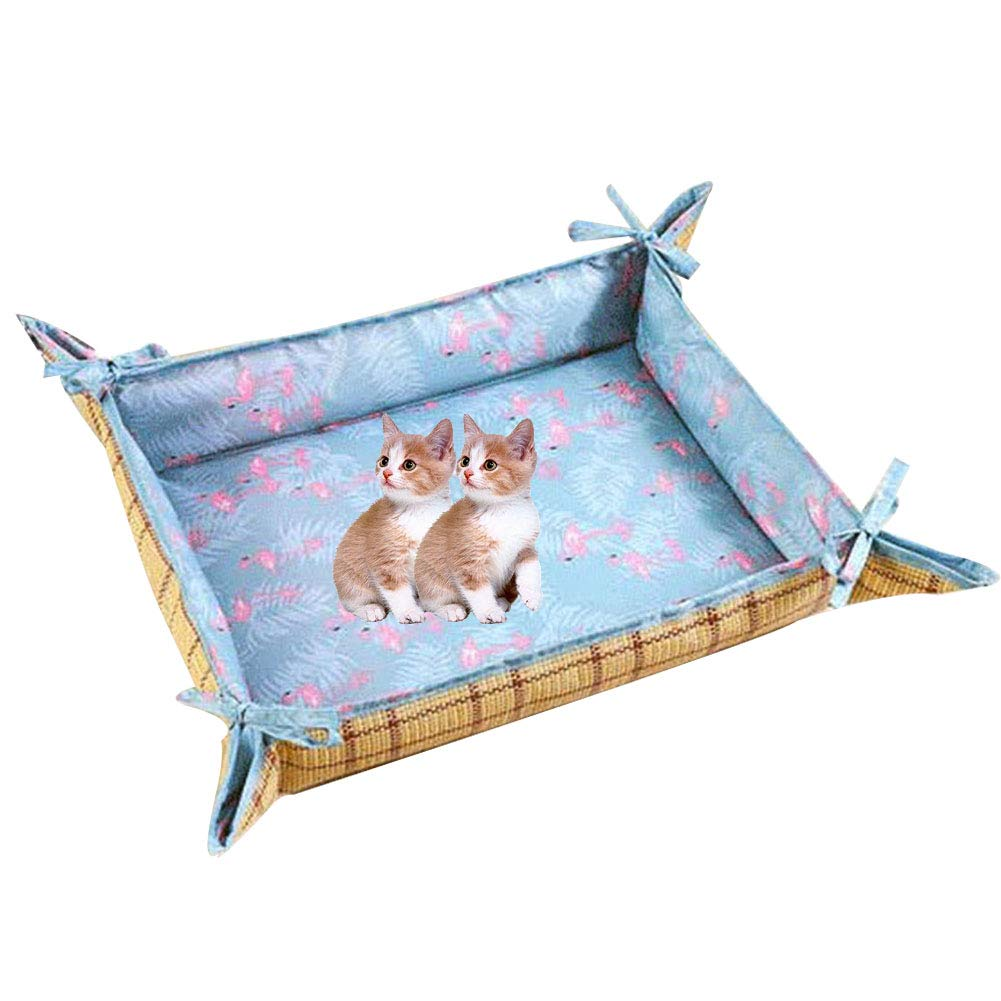 Small Durable Pet Cool Mat Dog Cat Blanket Pet Bed Super Soft Puppy Kitten Blanket Beds Mat Great for Dogs Cats in Hot Summer,S