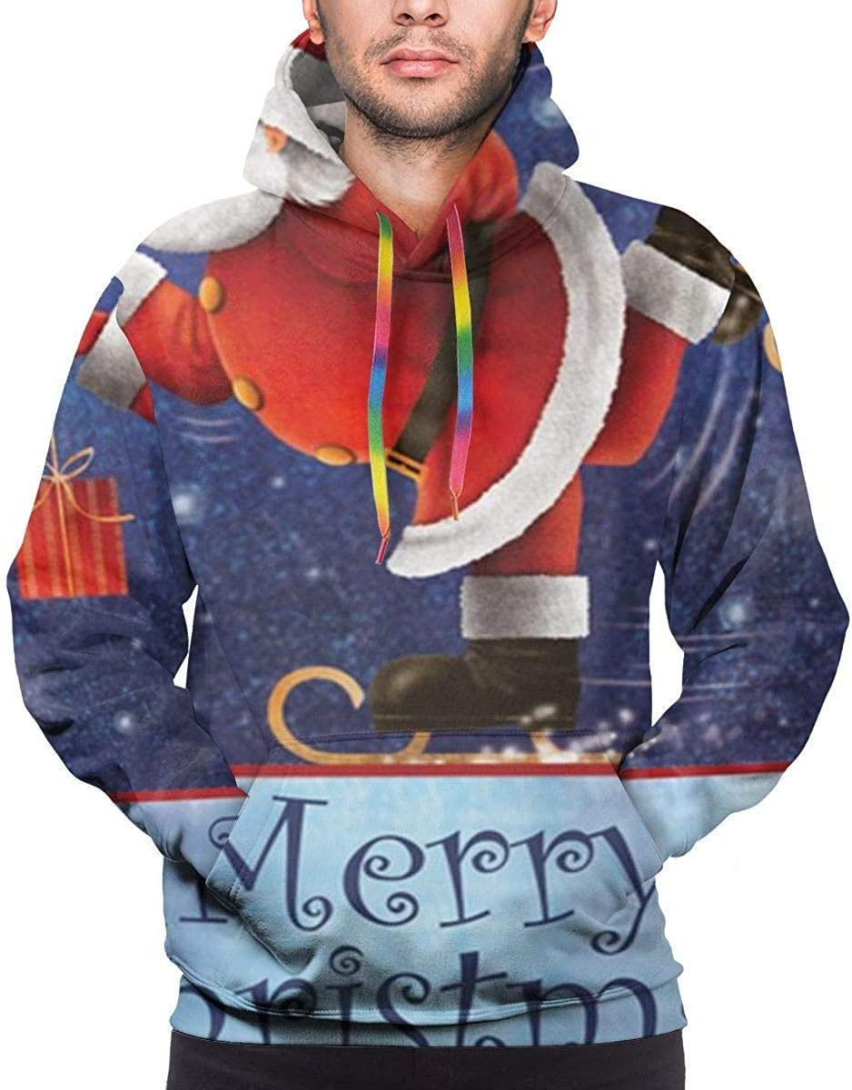 XL 1Zlr2a0IG Skating Santa Christmas Unisex Funny 3D Print Drawstring Pul r Hoodie Sweatshirt with Kangaroo Pocket