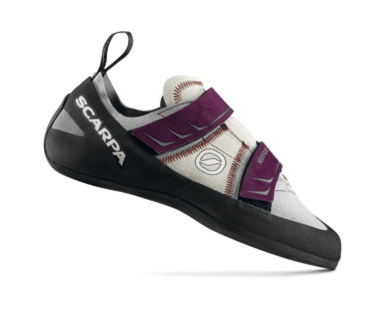 Scarpa Women's Reflex Climbing Shoe,Pewter/Plum,38.5 EU/7.3 M US