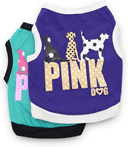 DroolingDog Summer Cat Shirts Pet Dog Clothes for Small Dogs