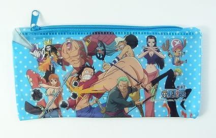 One Piece Manga cremallera caja de lápiz de la bolsa de Japón - Azul