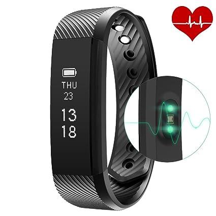 yahuang veryfit 115 HR – Rastreador de fitness con Pulso Relojes, fitness pulsera actividad Tracker