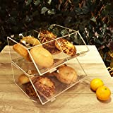Ikee Design Acrylic Stackable Bakery Display Case