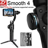 [FiLMic Pro Verson] Zhiyun Smooth 4 3-Axis Handheld Gimbal Stabilizer w/Focus Zoom Capability for Smartphone Like iPhone X 8 Plus 7 6 SE Samsung Galaxy S9+ S9 S8+ S8 S7 S6 Q2 Smooth-Q/III