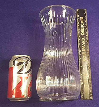 Amazon Vintage Hoosier Glass 10 Ribbed Glass Vase 4087 W