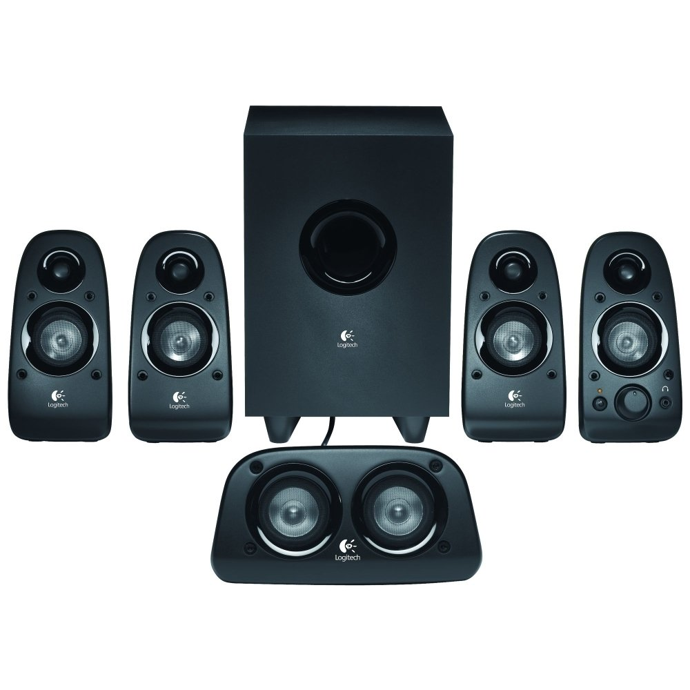 Logitech Z506 6-Piece 5.1 Channel Surround Sound Speaker System, Black (Refurbished) by Logitech