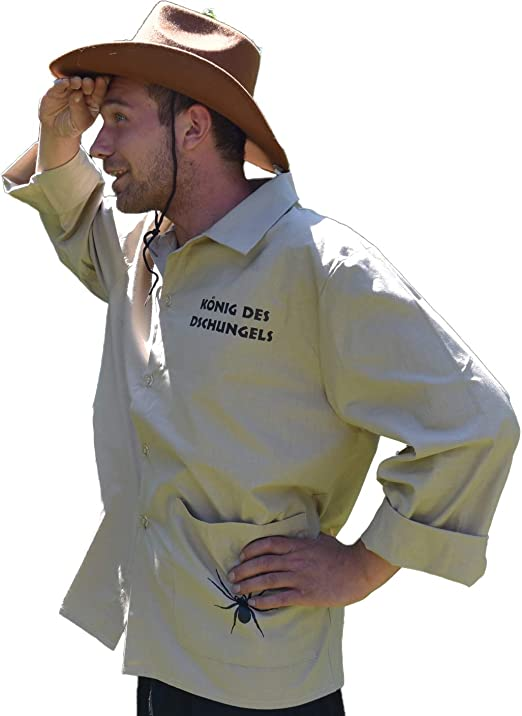 Krause & Sohn Disfraz de Hombre King of The Jungle Camisa Beige Show de Carnaval (52): Amazon.es: Productos para mascotas