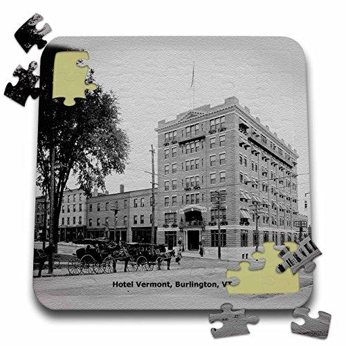 Sandy Mertens Vermont - Hotel Vermont, Burlington, VT (Vintage to 1906) - 10x10 Inch Puzzle -