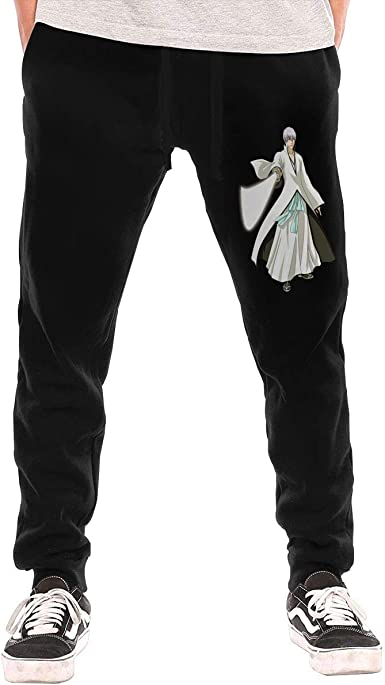 Amazon Com Rzjmru Ichimaru Gin Bleach Pantalones Deportivos Para Hombre Color Negro Clothing