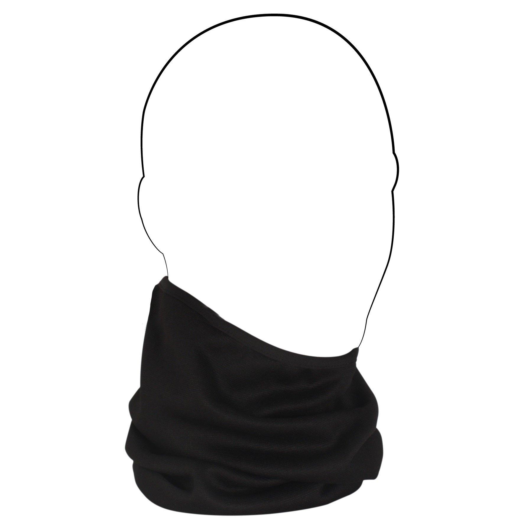 ZANheadgear WFMCF114 Neck Gaiter (Multi, One Size) (Comfort Fleece Black)