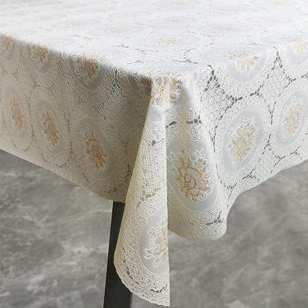 Tovaglia Amira in vinile 137 x 180 cm colore avorio