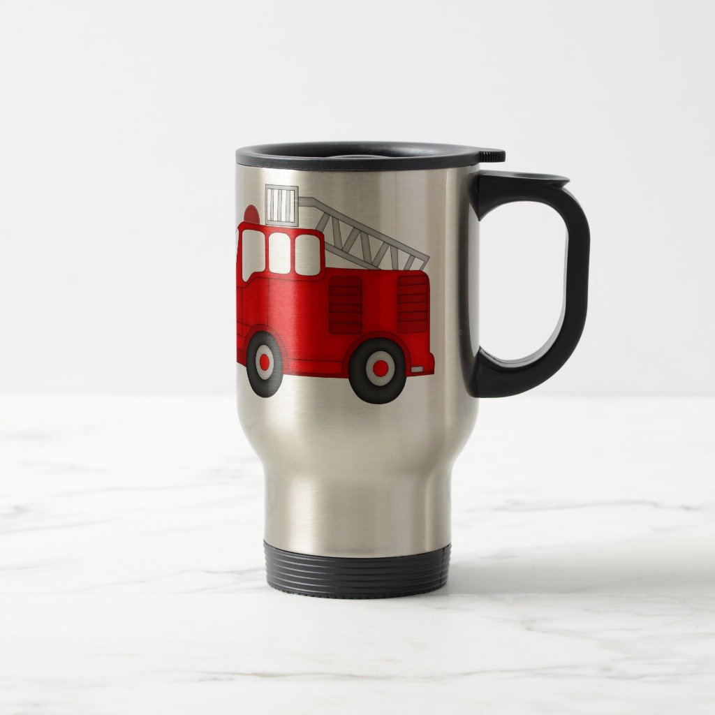 Zazzle World's Greatest Fireman Travel Mug, Stainless Steel Travel/Commuter Mug 15 oz