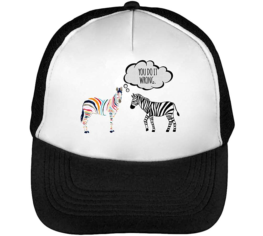 You Do It Wrong Anti Hater Zebra Gorras Hombre Snapback Beisbol ...