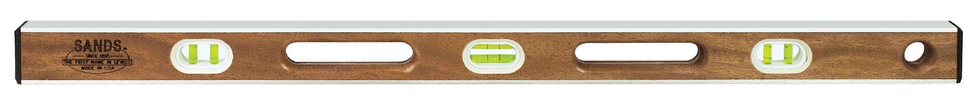 Sands Level & Tool  SLMA36 36-Inch Professional Mahogany I-Beam Level, Mahogany