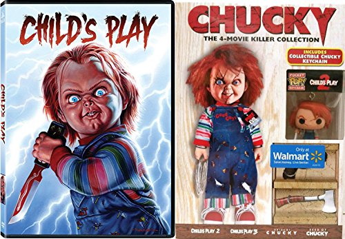 Childs Play Exclusive Chucky Killer Horror 5 Movie Collection + Funko Pocket Pop! doll keychain part 1/2/3/4/5