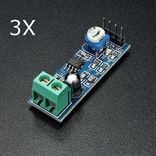 ILS 3 pieces LM386 Audio Amplifier Module 200 Times Input 10K Adjustable Resistance