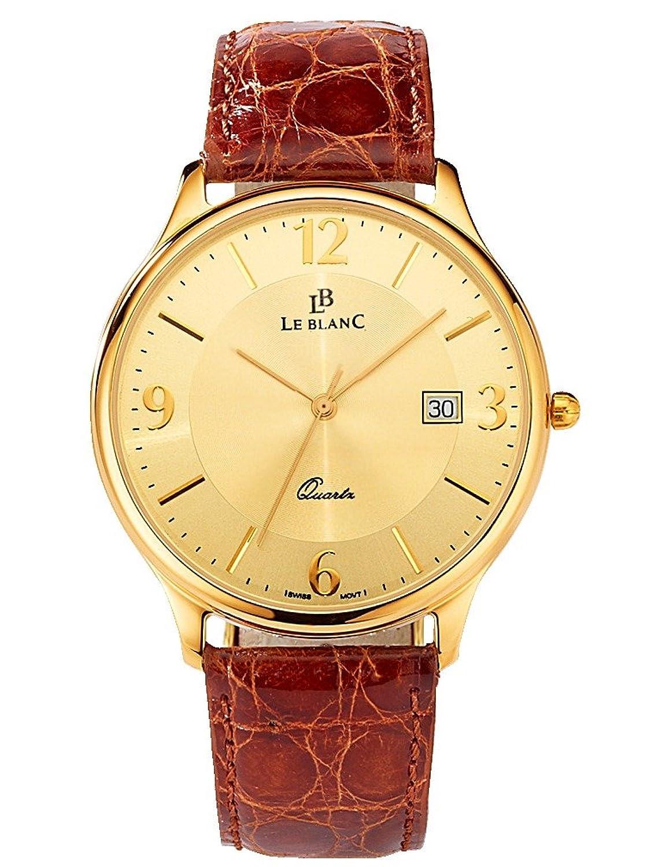 Herren Herrenuhr Gelbgold 585 by Le Blanc