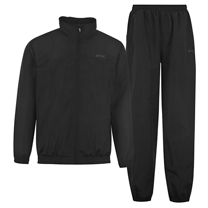 Slazenger Kids Woven Suit Juniors Boys Tracksuit Top and Bottoms