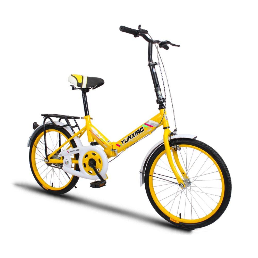 学生折りたたみ自転車, 折りたたみ自転車 女性のサイクリング 超軽量 ポータブル ミニ 男性 折り畳み自転車 B07DFFZYKH 20inch イエローA イエローA 20inch