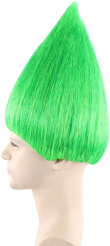 Amazon.com: Troll estilo peluca Elfo Pixie Gnome Color Verde ...