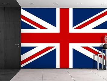 Wall26   Large Wall Mural   Union Jack The UK Flag   Self Adhesive Vinyl