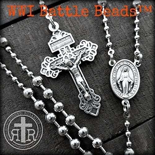 WWI Battle Beads™ Rosary - Replica of Historic Military Issued Combat Rosary