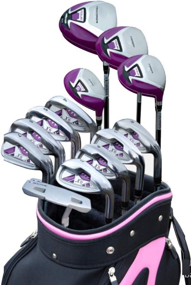 ゴルフパター レディースゴルフパターゴルフ練習クラブ13ピース軽量ゴルフセット女性ゴルフクラブコンプリートクラブ初心者セットエクササイズバー 右利きまたは左利きのゴルファー向けのパター (色 : One color, サイズ : Carbon rod) One color Carbon rod