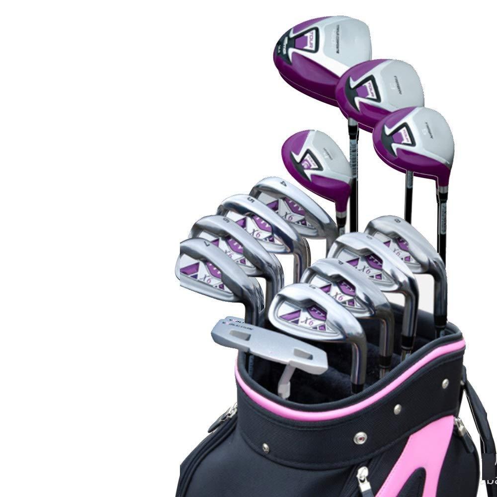 レディースゴルフパターゴルフ練習クラブ13ピース軽量ゴルフセット女性ゴルフクラブコンプリートクラブ初心者セットエクササイズバー ゴルフサンドウェッジ (色 : One color, サイズ : Carbon rod) One color Carbon rod