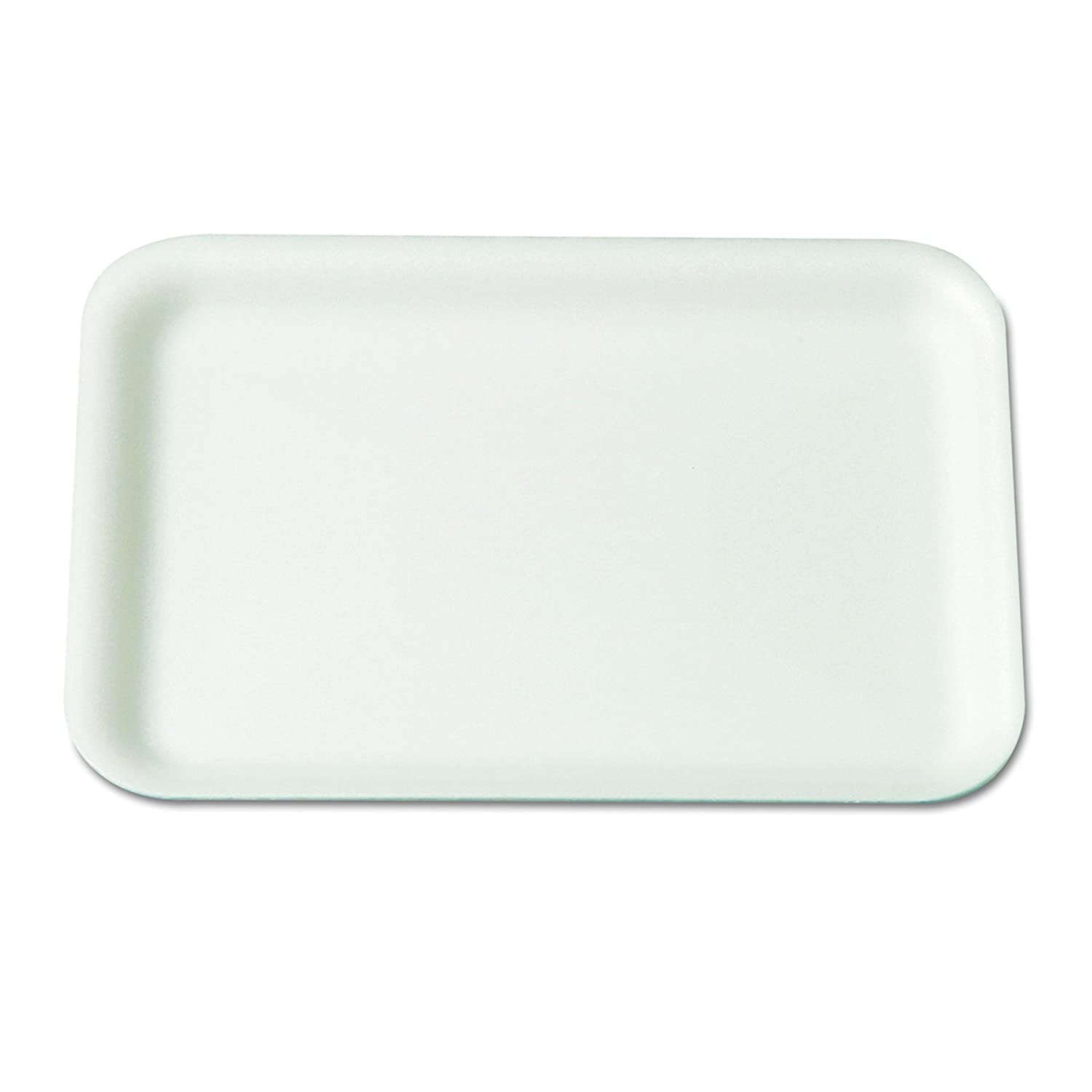 Genpak 2SWH 8.25-Inch Length by 5.75-Inch Width by 0.5-Inch Height White Color Foam Meat Standard Supermarket Food Tray 125-Pack (Case of 4)