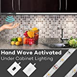 LED Strip Light, Megulla 5ft/1.5m Under Cabinet Lighting, Dimmable, IP65 Waterproof, 12V Power Supply, IR Sensor(Hand Wave and Hand Touch) Switch -Cool White, 6000K