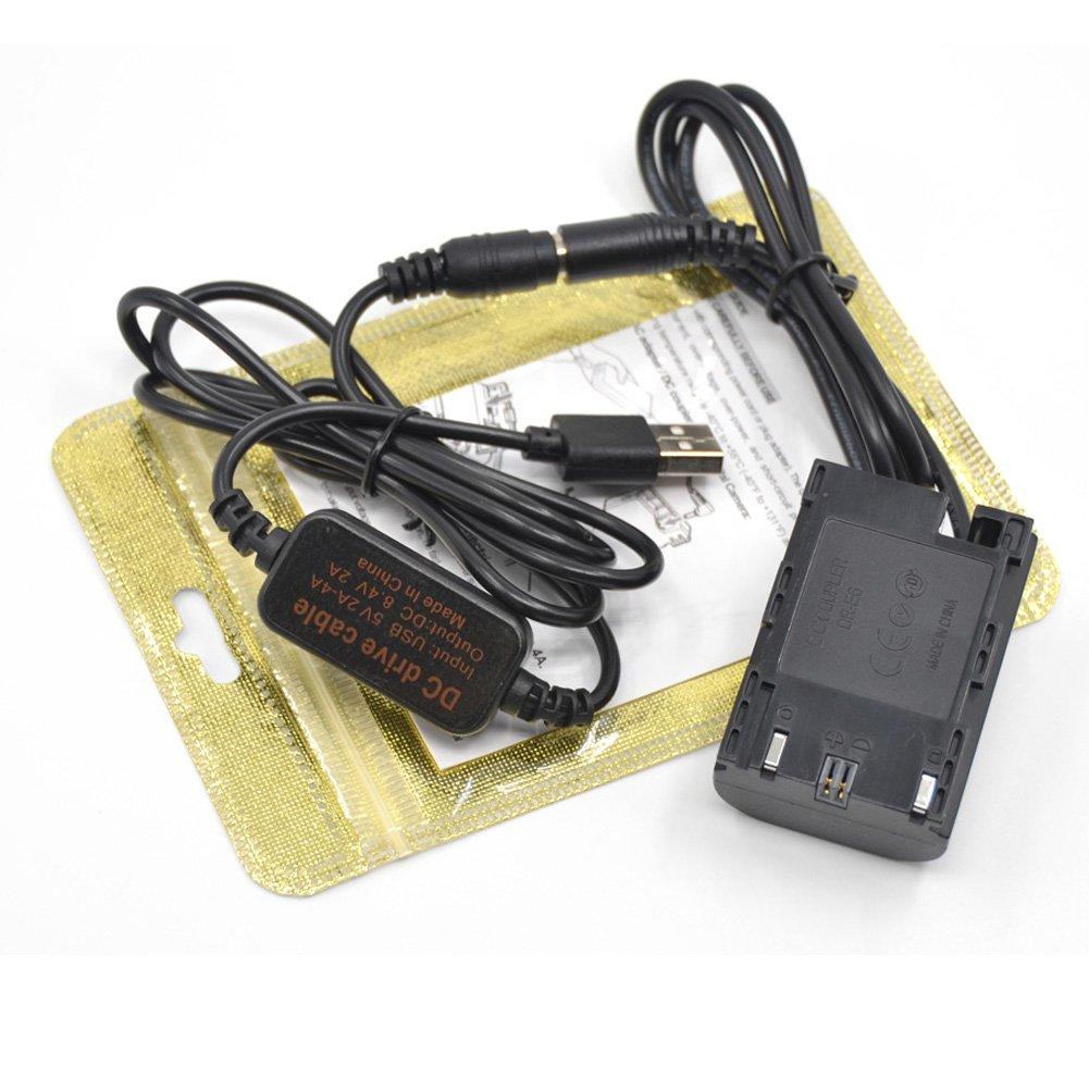 USB L/ínea De Conducci/ón DC 8.4V ACK-E6 5V3A USB Adaptador para Canon EOS 5D Mark II III 5D2 5D3 6D 7D DR-E6 LP-E6 LP E6 Bater/ía Virtual