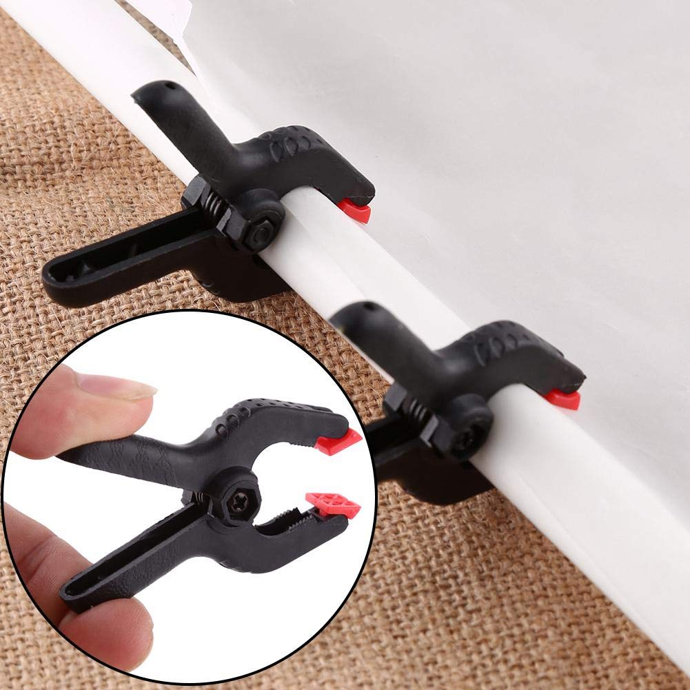 6PCS 2inch Plastic Photography Background Backdrop Clamps Clips for Stands Photo Studio Printing Photographic Equipment