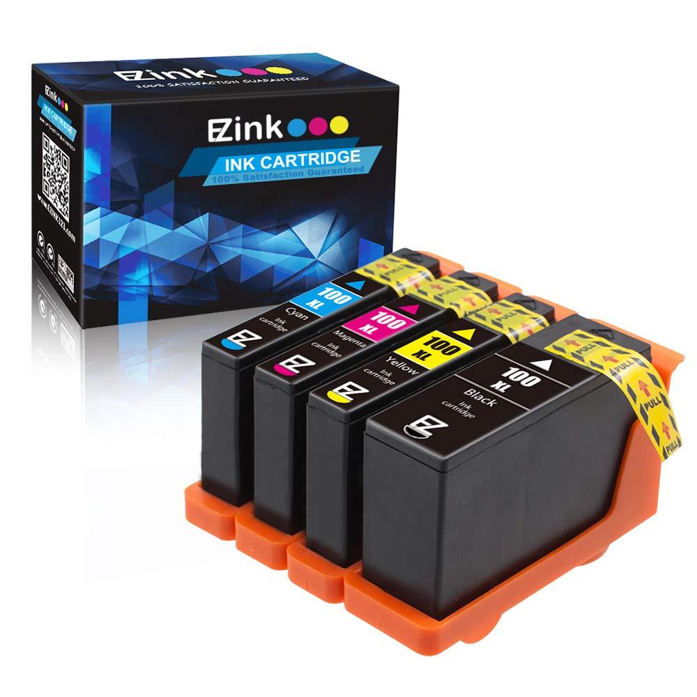 E-Z de tinta compatibles con cartuchos para de tinta de repuesto de Lexmark para cartuchos impresoras Lexmark 100XL (1 negro, 1 cian, 1 Magenta, 1 amarillo) 14N1068 14N1069 14N1070 14N1071 (4) Compatible con Impact unidades S300/S301/S302/S305, Interpret S402/S405/S502, 41d7f4