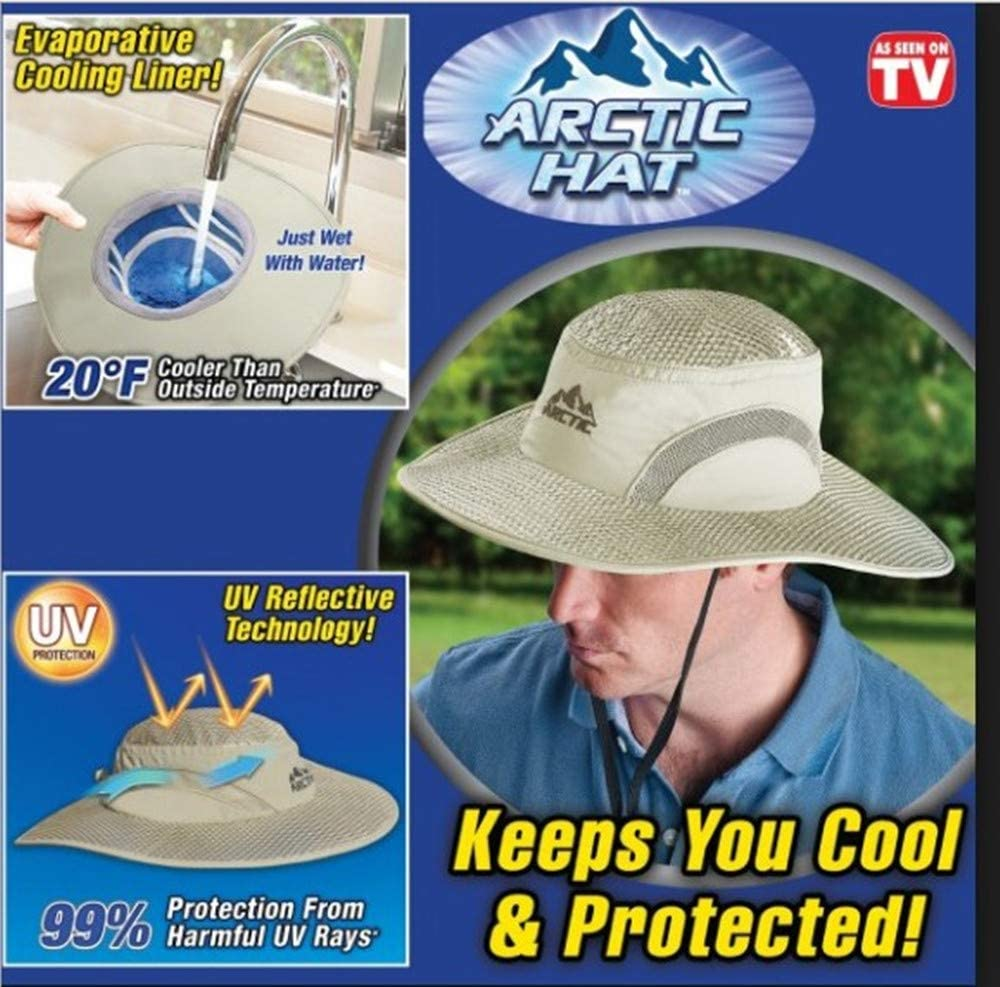 Outdoor UV Protection Sweat-absorbing Quick Drying Keep Hydro Cooling Arctic Hat