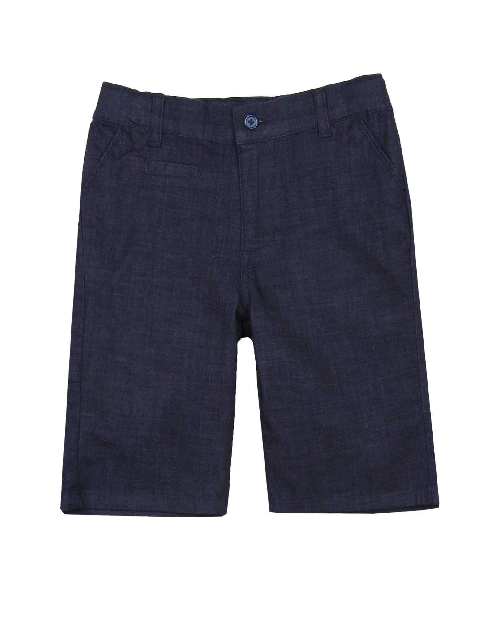 Deux par Deux Boys' Tailored Bermuda Shorts in Denim Look Casual Chic, Sizes 5-12 - 5