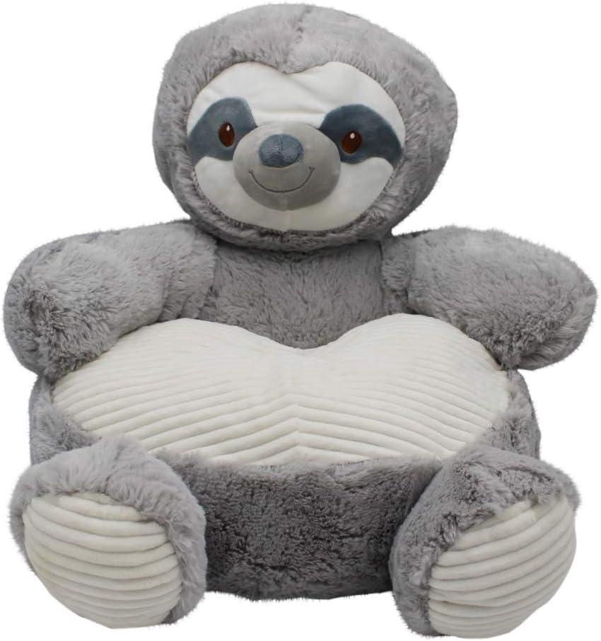 Brown Bear 18 Plush Baby Chair W//Corduroy Trim